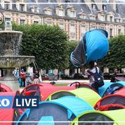 Paris : les sans-abri installés sur la place des Vosges évacués