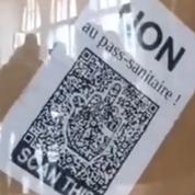 Doubs : un «gilet jaune» placé en garde à vue pour avoir remplacé le portrait de Macron par un QR code
