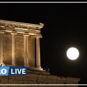 «Moment majestueux»: une nuit de pleine lune sur l'Acropole d'Athènes