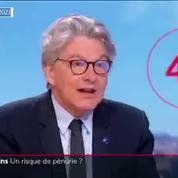 Pour la troisième dose, il n'y aura «absolument pas de pénurie» de vaccins, assure Thierry Breton