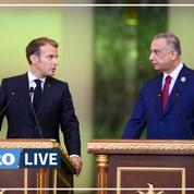 En Irak, Emmanuel Macron rappelle que l'État islamique «reste une menace»