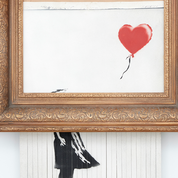 Banksy : Jeune fille au ballon prépare un nouvel envol aux enchères avec «happening»