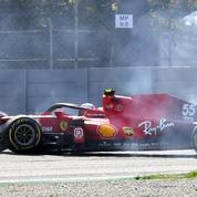 F1 : Gros crash pour Carlos Sainz à Monza au volant de sa Ferrari