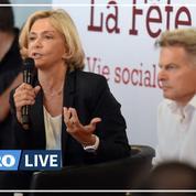 Valérie Pécresse et Fabien Roussel débattent à la Fête de l'Humanité