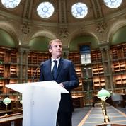 À la BNF, Emmanuel Macron met en garde contre le «rétrécissement» de la France
