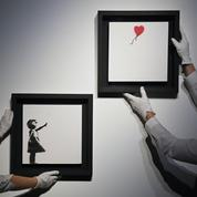Une version en diptyque de La Fille au ballon de Banksy mise aux enchères