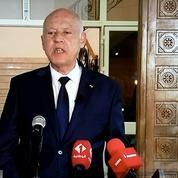 Environ 2.500 partisans du président tunisien Kaïs Saïed rassemblés à Tunis