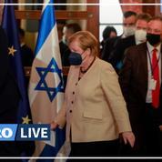 Angela Merkel défend la sécurité d'Israël lors de sa tournée d'adieu
