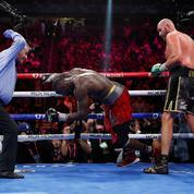 Boxe : les douze images d'un combat de légende entre Fury et Wilder