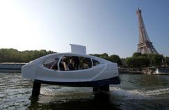 Nouveaux tests des Sea Bubbles, «taxis volants», sur la Seine