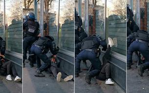 Manifestant frappé à terre: trois policiers, dont celui mis en cause, portent plainte