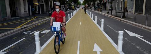 Combien de temps les pistes cyclables temporaires vont-elles rester ?