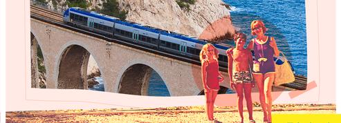 Le train du départ en vacances, le bonheur au bout du quai