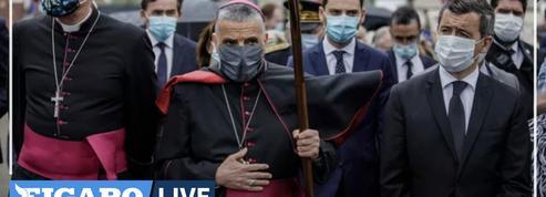 Saint-Étienne-du-Rouvray : «Nous n'oublions pas que le père Hamel fut tué par la barbarie islamiste», dit Darmanin