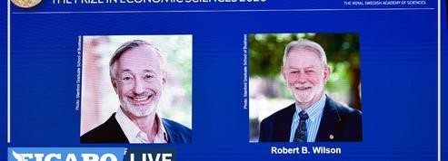Le prix Nobel d'économie attribué aux Américains Paul Milgrom et Robert Wilson