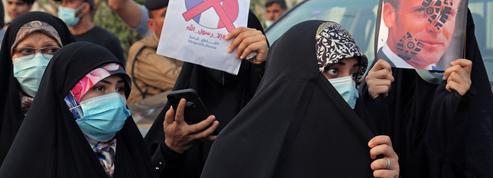 Caricatures : manifestation des pro-Iran devant l'ambassade de France à Bagdad