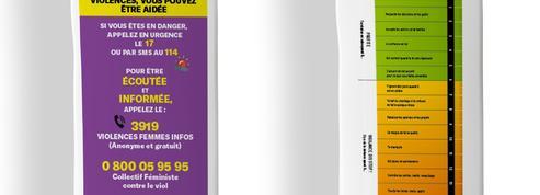 Lutte contre les violences conjugales en France: distribution de «violentomètres» sur des sachets de pain
