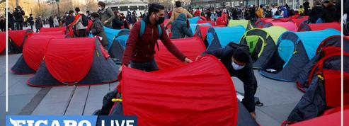 Campement de migrants : près de 400 tentes déployées place de la République à Paris