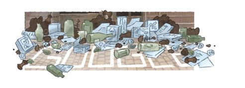 Google fête à sa façon la naissance de l'inventeur de la poubelle
