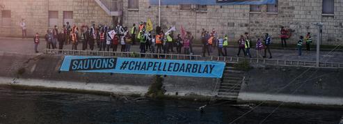 Une centaine de manifestants à Bercy pour «sauver la Chapelle Darblay»