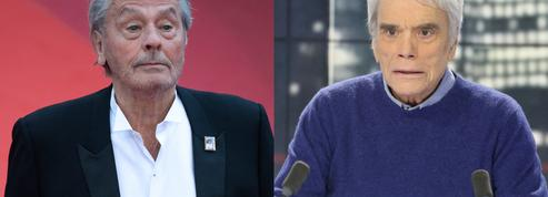 Alain Delon sort du silence pour soutenir Bernard Tapie, hospitalisé