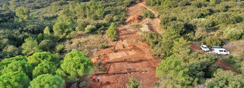 Une section de la via Domitia, l'autoroute romaine du sud de la Gaule, retrouvée dans l'Hérault