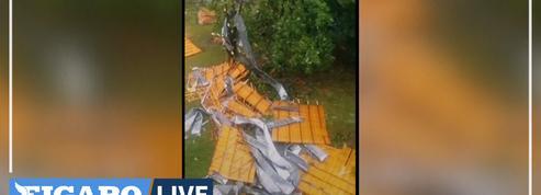 Toits arrachés, coupures d'électricité, inondations : de nombreux dégâts causés par les intempéries de samedi