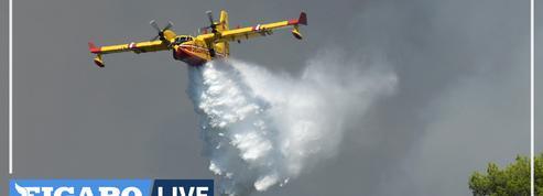 Incendie dans le Var : le vent et la sécheresse compliquent le travail des pompiers