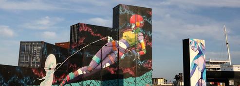 Au Barcarès, des conteneurs peints célèbrent l'art urbain face à la mer