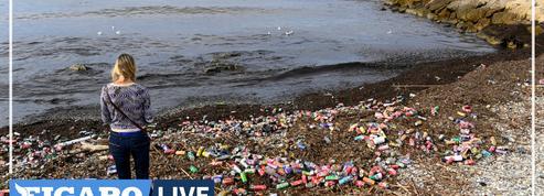 À Marseille, un flot d'ordures s'est déversé dans la mer à cause des intempéries
