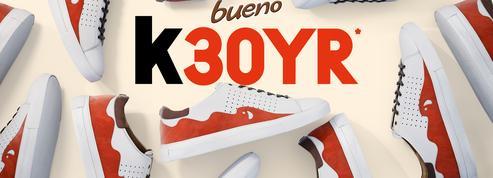 Pour les 30 ans de Kinder Bueno, Ferrero offre 90 paires de sneakers