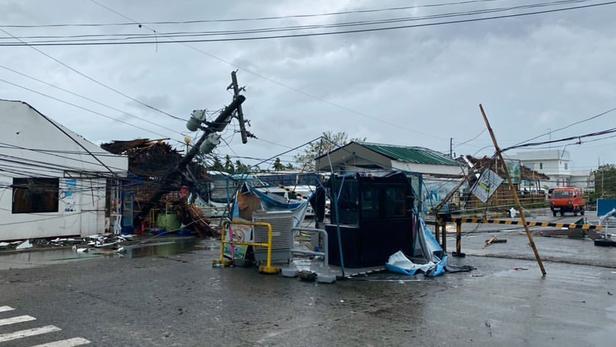 Des dégâts causés par le typhon Phanfone aux Philippines.