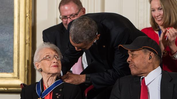 Avec Barack Obama en 2015.