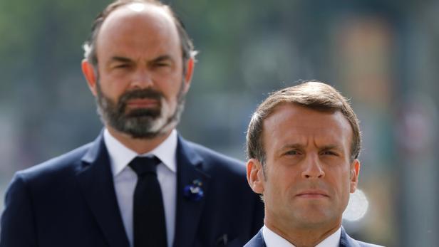 Emmanuel Macron et Édouard Philippe à Paris, le 18 juin 2020.