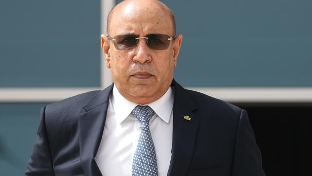 Le président mauritanien, Mohamed Ould Cheikh El Ghazouani. Ludovic MARIN / POOL / AFP