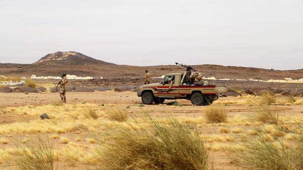 Des soldats de l'armée nigérienne dans le désert de Iferouane. (Photo d'illustration)