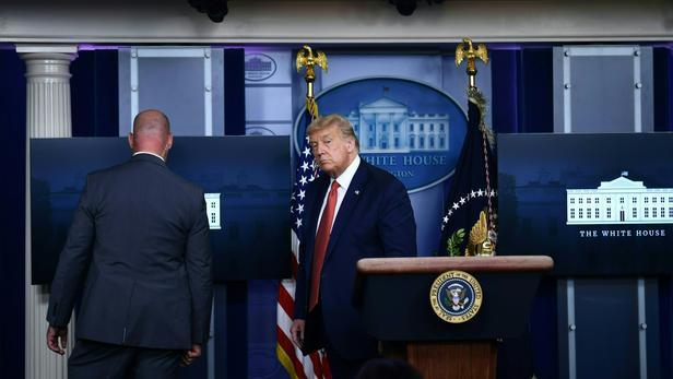 Donald Trump a été mis à l'abri par son service de sécurité.