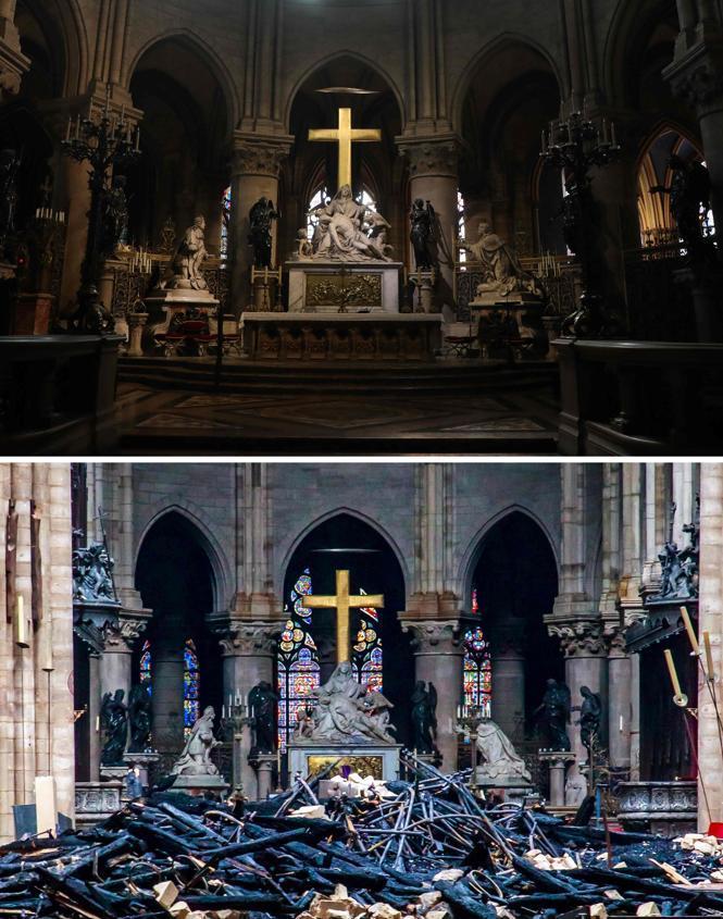 La Pieta monumentale du sculpteur Nicolas Coustou épargnée.