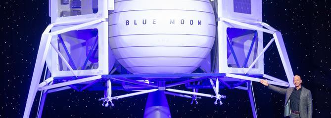 Jeff Bezos dévoile un projet d'alunisseur pour retourner sur la Lune d'ici 2024