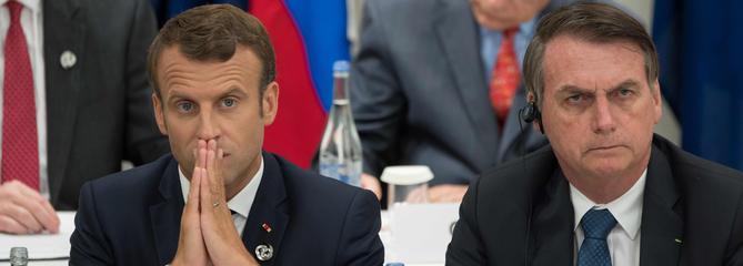UE-Mercosur: Macron accuse Bolsonaro d'avoir «menti»