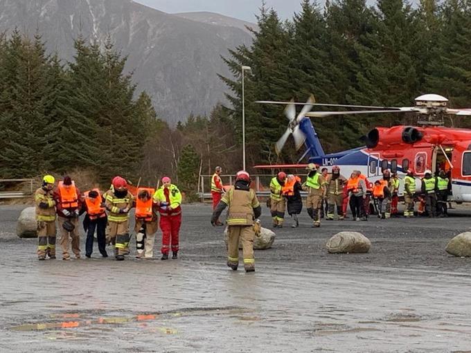 L'opération d'évacuation des passagers s'est faite par hélicoptère.