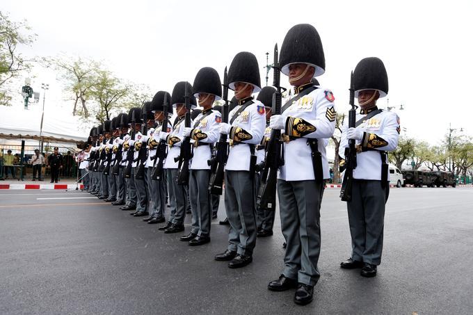 Les gardes royaux étaient présents lors du couronnement.