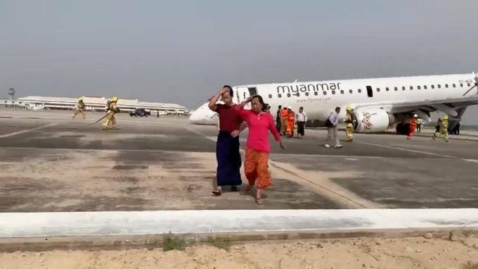L'atterrissage n'a fait aucun blessé parmi les 89 passagers et membres d'équipage.