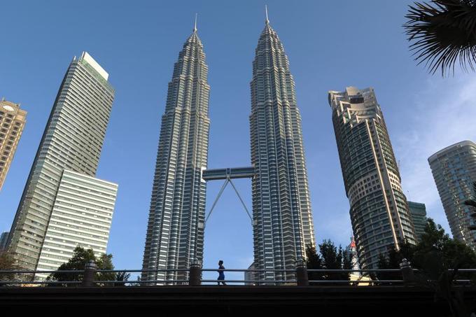 Les Tour Petronas à Kuala Lumpur.