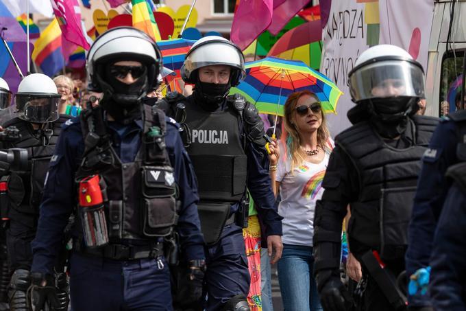Un lourd dispositif policier était présent