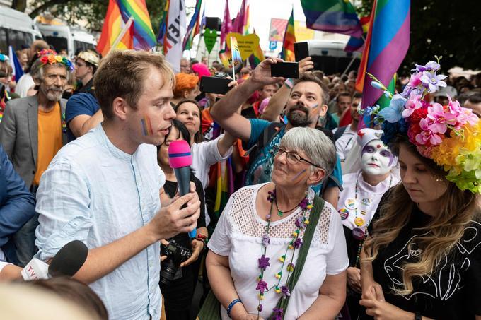 L'Allemand Rasmus Andresen et la Britannique Julie Ward, tous deux députés européens, étaient présents à la Gay Pride.