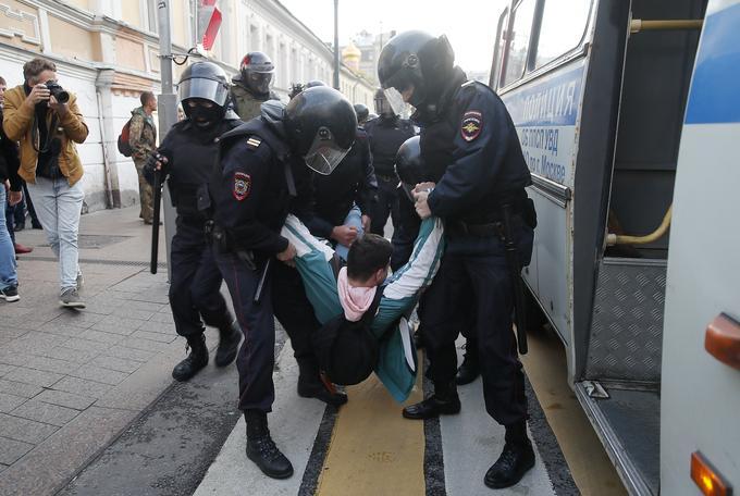 136 personnes ont été arrêtées à Moscou, d'après la police.