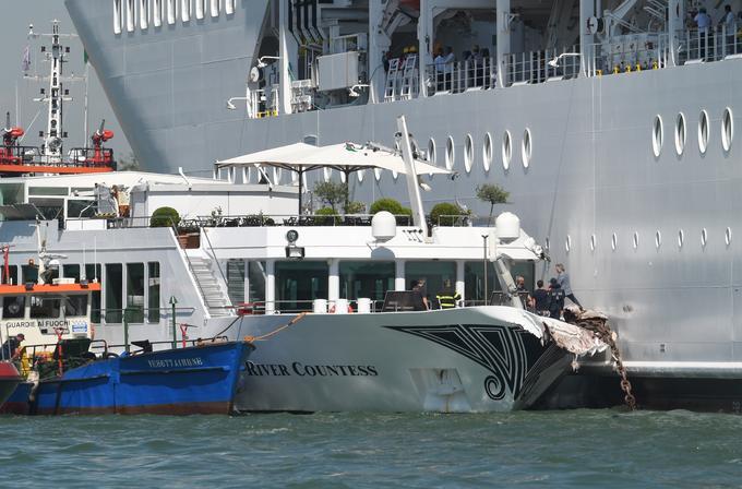 L'incident de juin et les dégâts sur le bateau abordé par le MSC Opera.