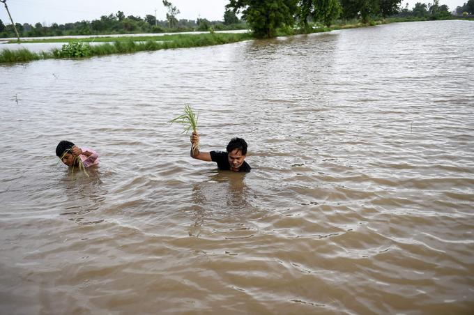 La mousson en Inde a fait déplacer un million de personnes en deux semaines.
