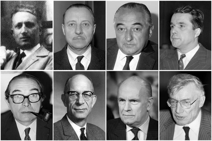 Claude Martial-Bourgeon, Basile Tesselin, Jean Lagrange and Pierre Courtade, Max Olivier-Lacamp, Vincent Latève, Gilles Martinet et Claude Roussel